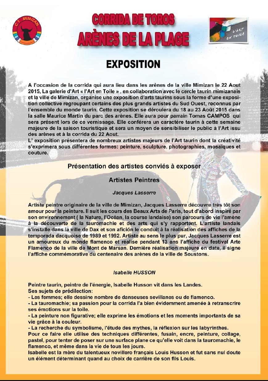 Dossier de presse expo mimizan 2015