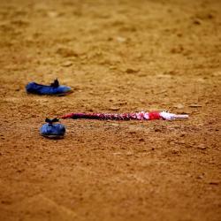 Zapatillas y banderilla 2013©William LUCAS 2014©William LUCAS